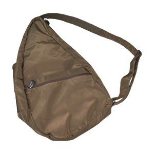 AmeriBag Classic Healthy Back Bag Taupe Microfiber
